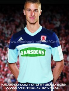 Middlesbrough away kit 2013