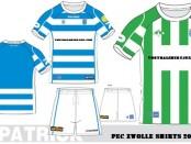 FC Zwolle thuishirt en uitshirt 2012-2013