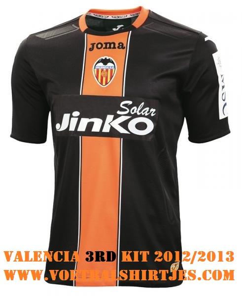 Valencia CF 3rd camiseta 2012 2013