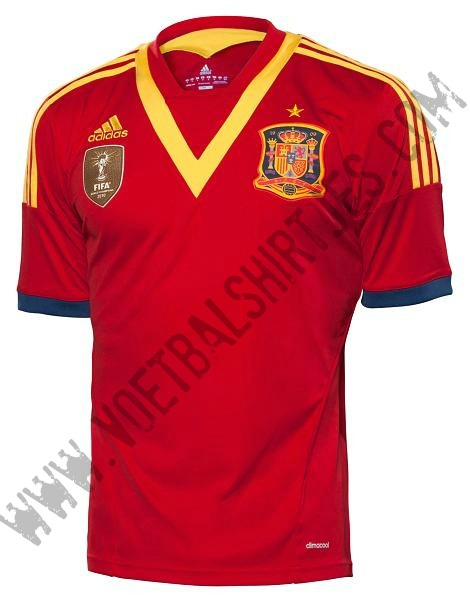 Spain Confederations Cup home jersey 2013-2014