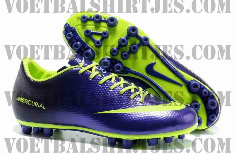Nike voetbalschoenen 2013 Mercurial Vapor IX paars groen