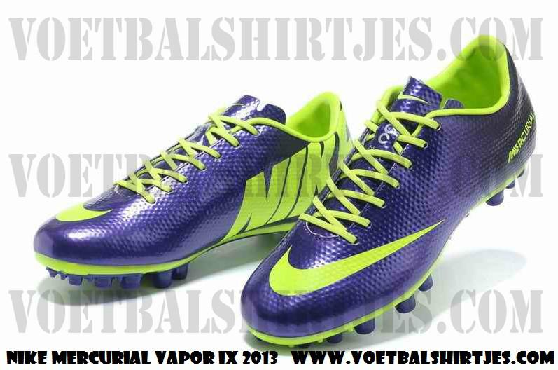 Nike mercurial vapor IX soccer cleats purple green