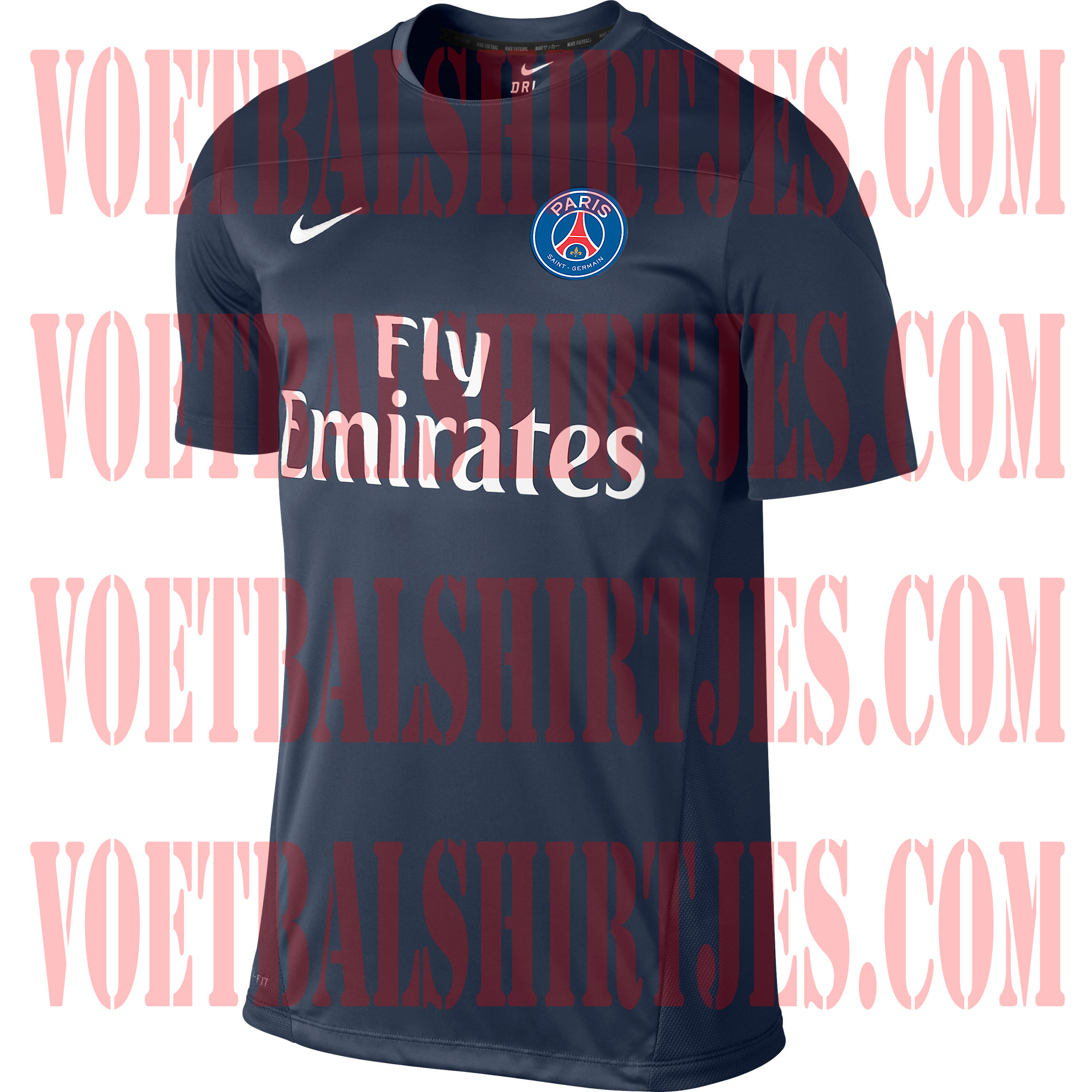 paris saint germain trainingsshirt 2013 2014
