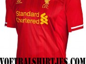 Liverpool home kit 2013 2014 Warrior