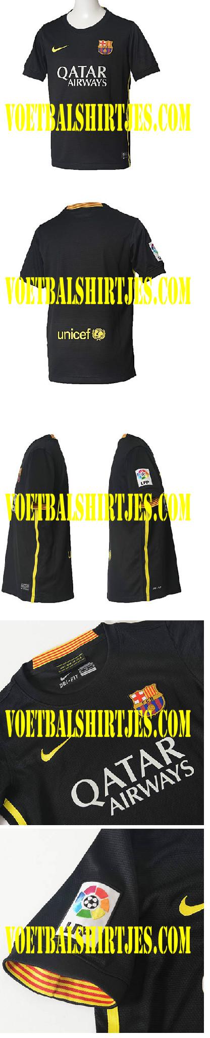 camiseta third fc barcelona negra 2014