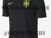 camiseta Brasil 3rd negra 2014