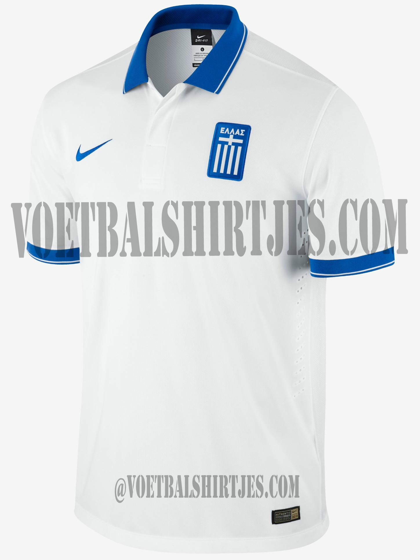 Greece world cup home shirt 2014