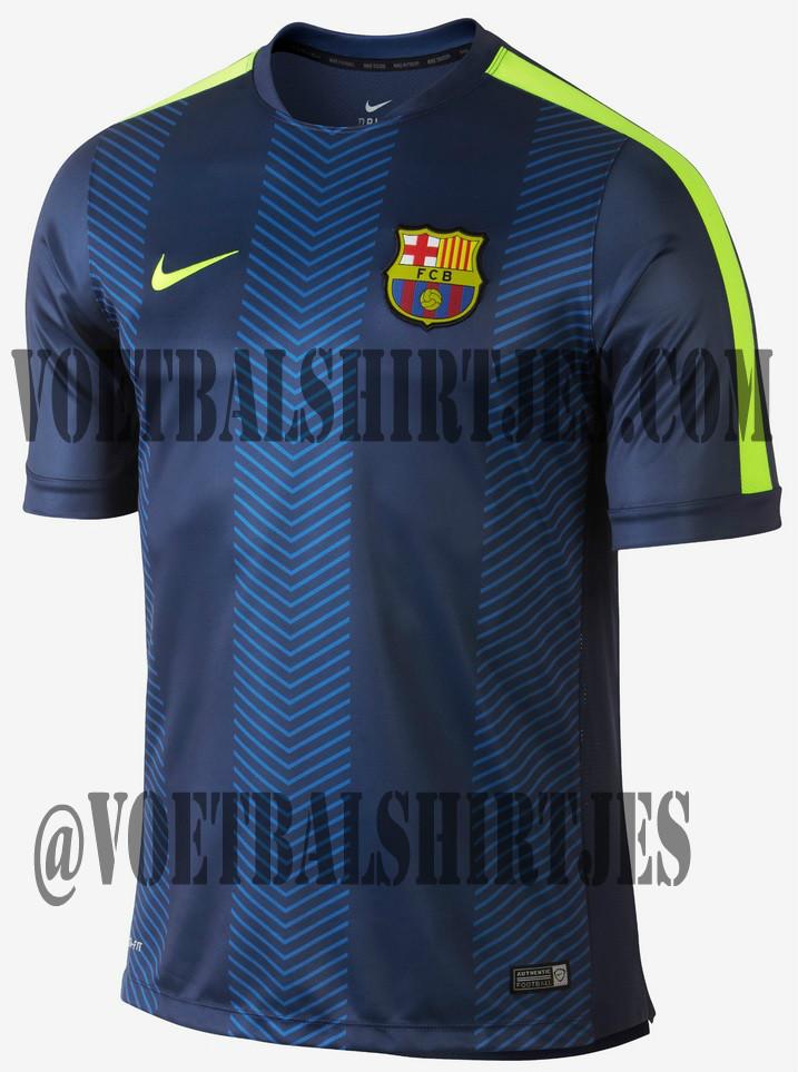 Barcelona shirt 14 15 training