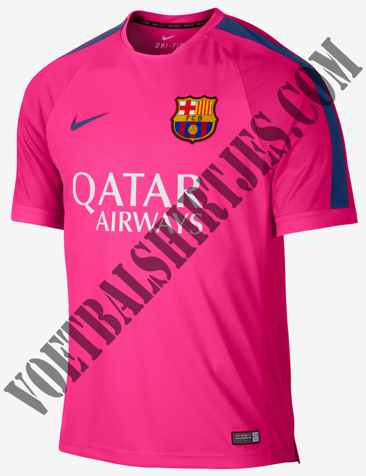 FC Barcelona Pink training top 2015