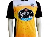 CD Lugo bier voetbalshirt 2015