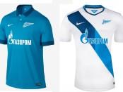 Fc Zenit shirts 14-15