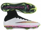 Mercurial Superfly IV White Pink