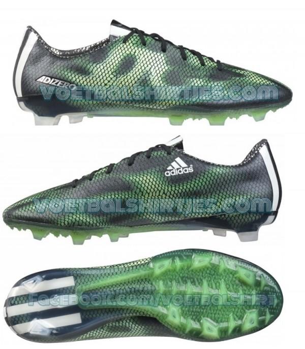 adidas f50 core black solar green