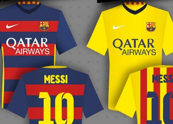 Barcelona shirts 2015/2016