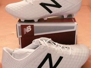 New Balance Visaro white football boots