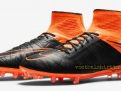 Nike Hypervenom Phantom II LEather Tech Craft FG Black Total Orange