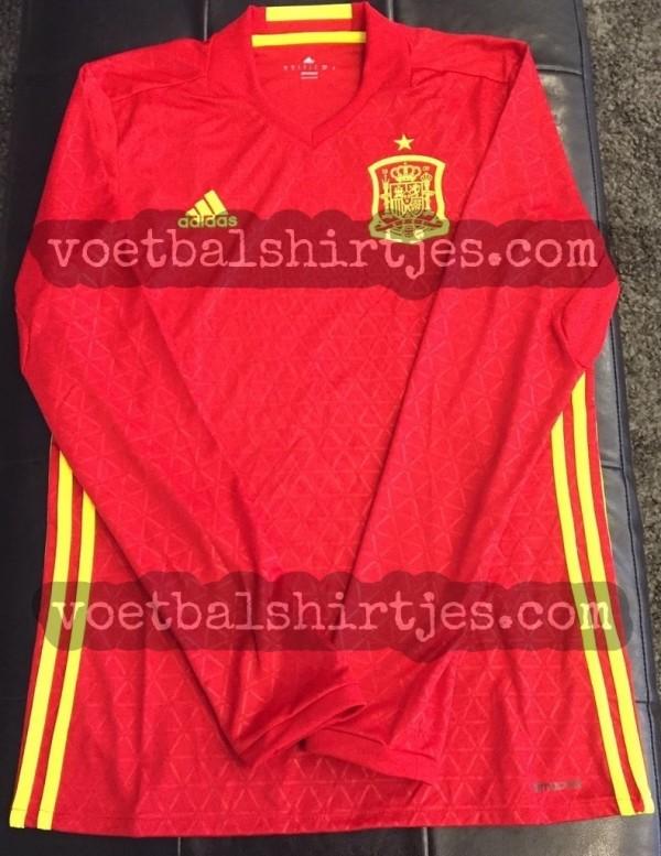 Spain Euro 2016 home kit