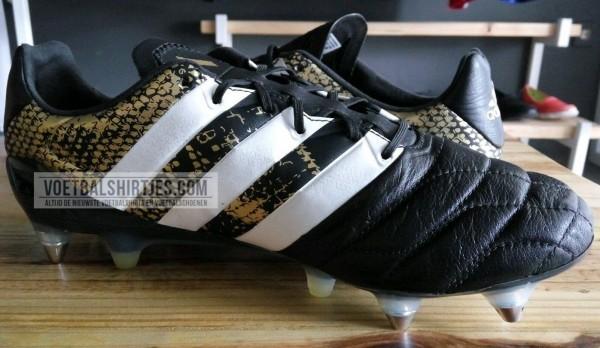 adidas ace 16.1 leather black gold white