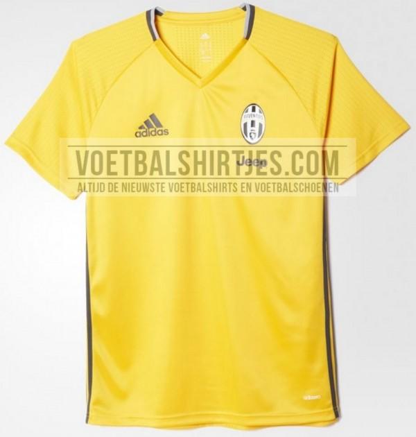 Juventus trainingsshirt geel 2016 2017