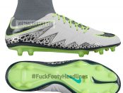 hypervenom II Pure Platinum & Ghost Green