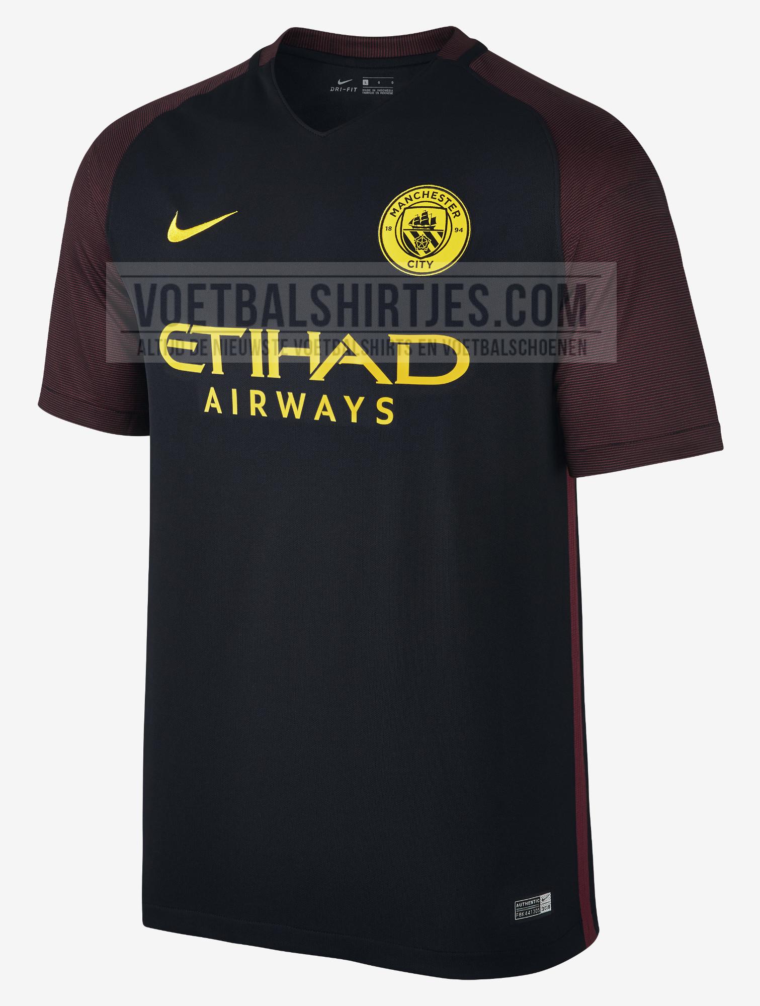 Manchester City uitshirt 2017