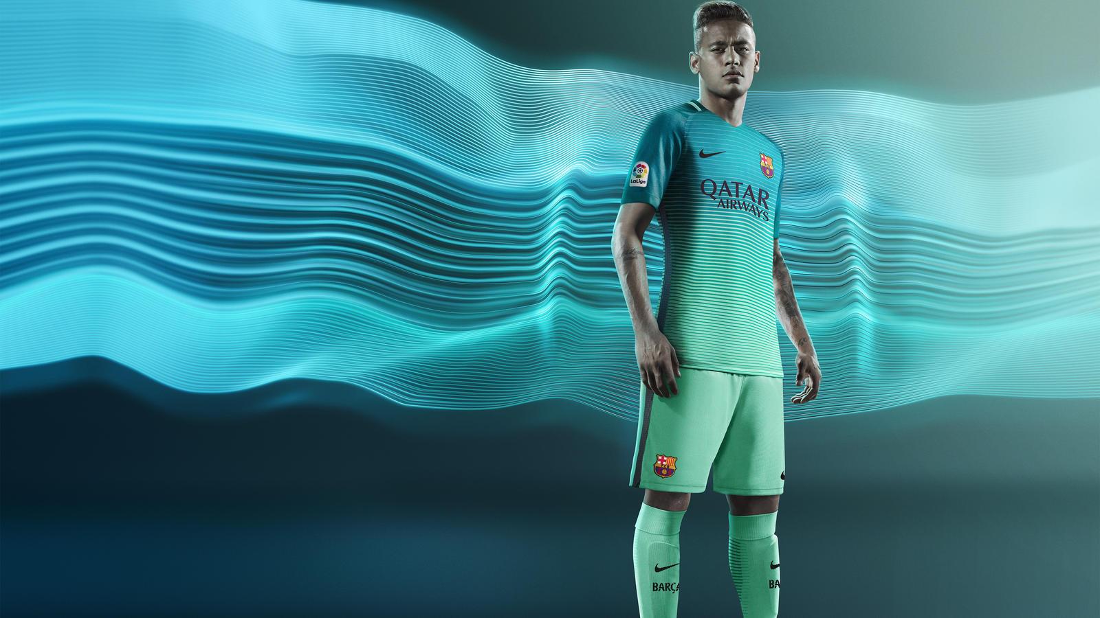 FC Barcelona third kit 2017 Neymar