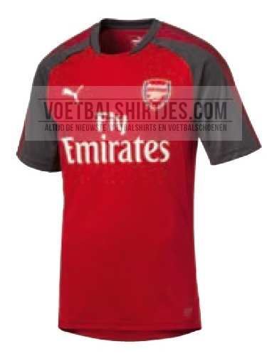 arsenal home 17-18 training top