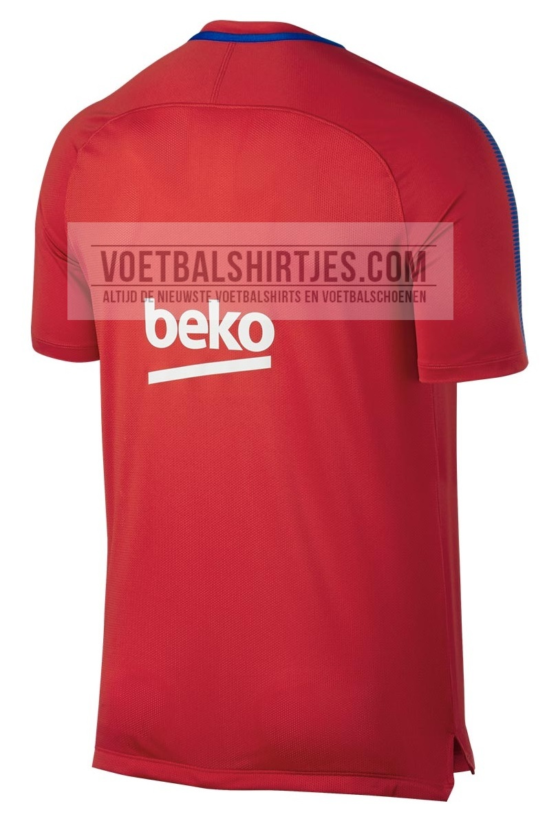 Barca training top 17-18