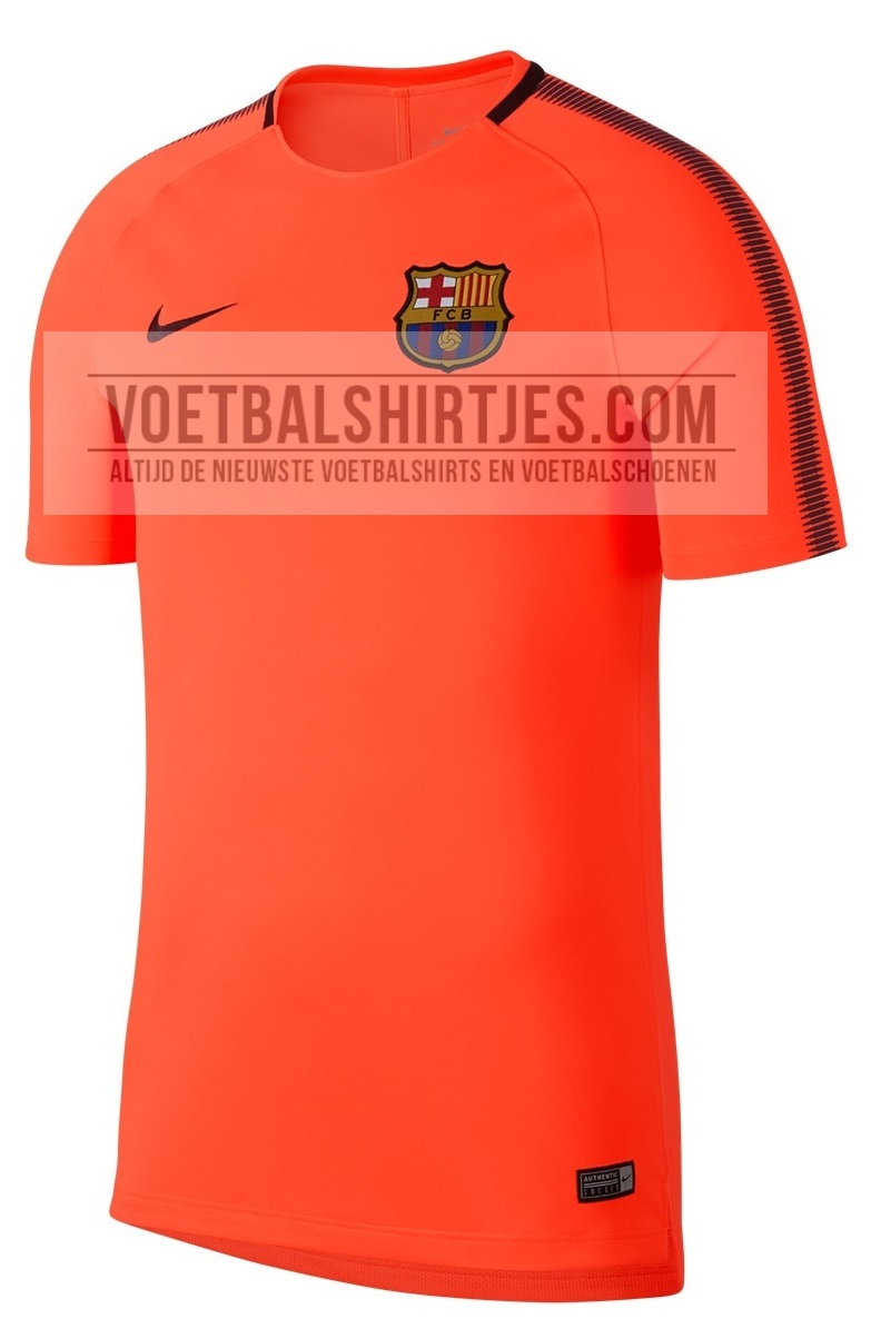 Barcelona 17-18 training top orange