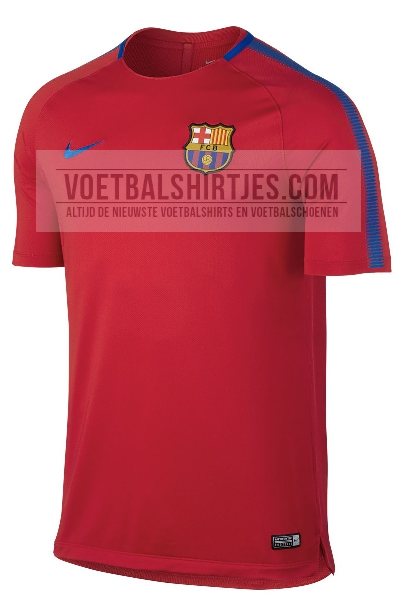 FC Barcelona training top 17-18 red