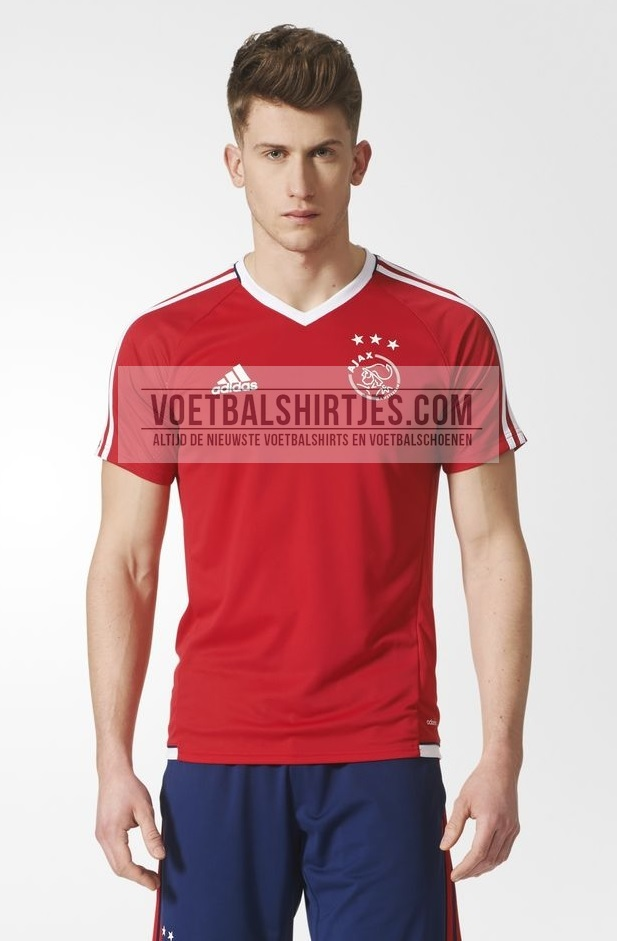 ajax 17-18 trainingsshirt rood