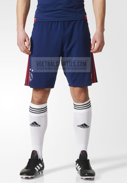 ajax training short 17-18 dark blue