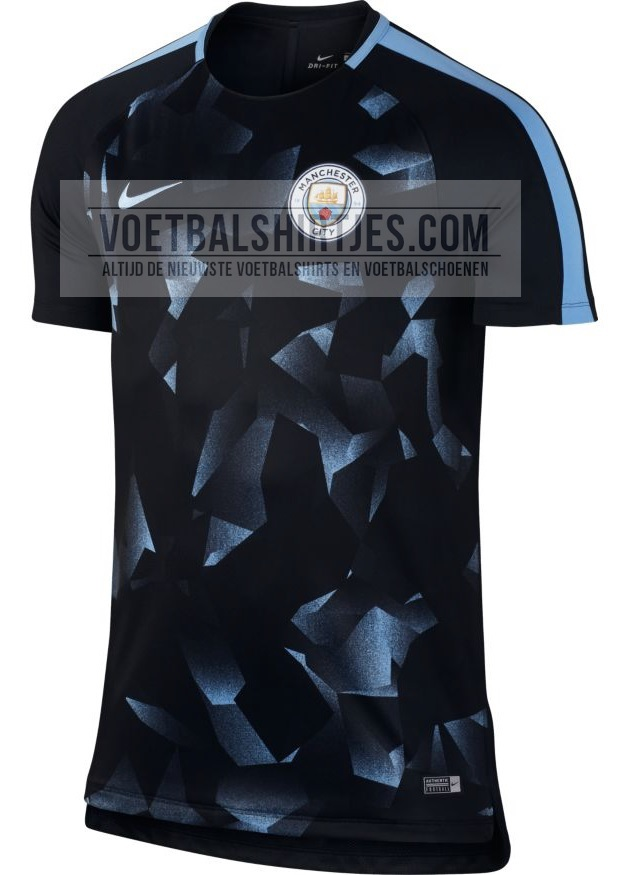 Manchester City 17-18 UCL Pre-match top