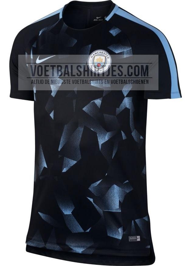 Manchester City 17-18 UCL Pre-match top