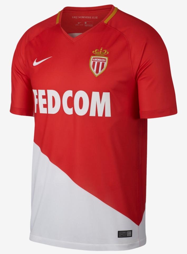 18 1718 Shirt As Monaco Kit 17 Home Thuisshirt VqzUGSpM