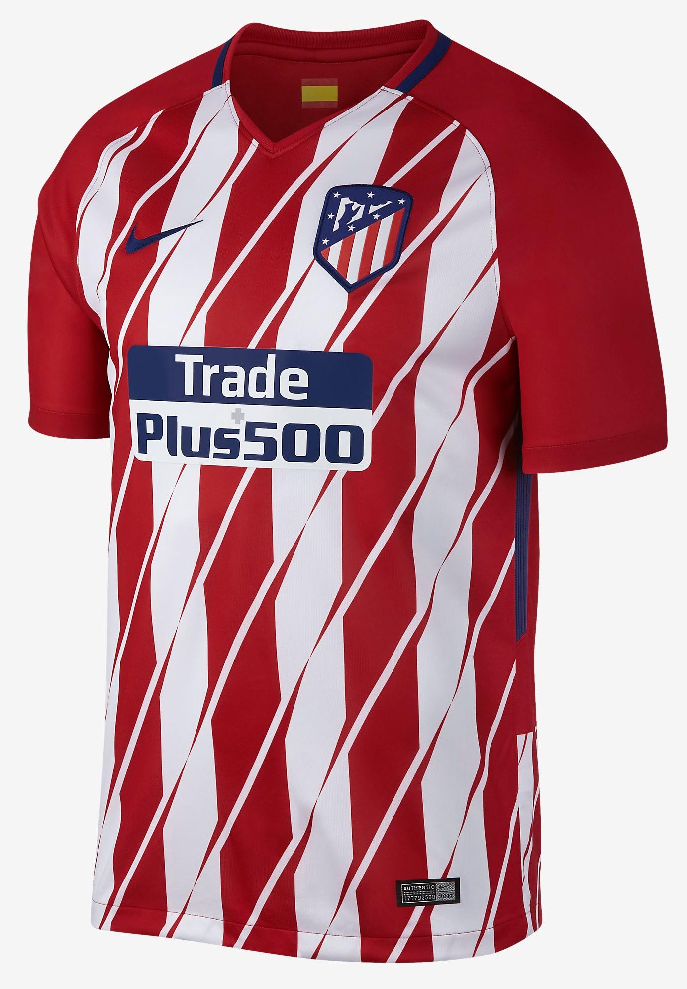 Atletico Madrid 2018 home kit
