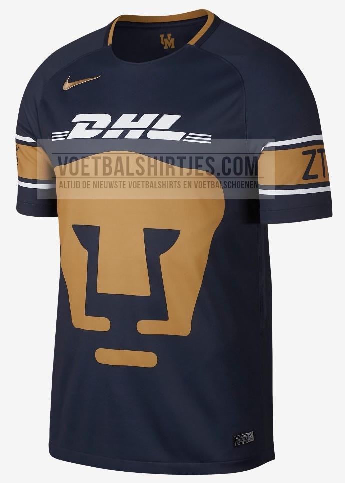 Pumas Unam 17-18 home kit