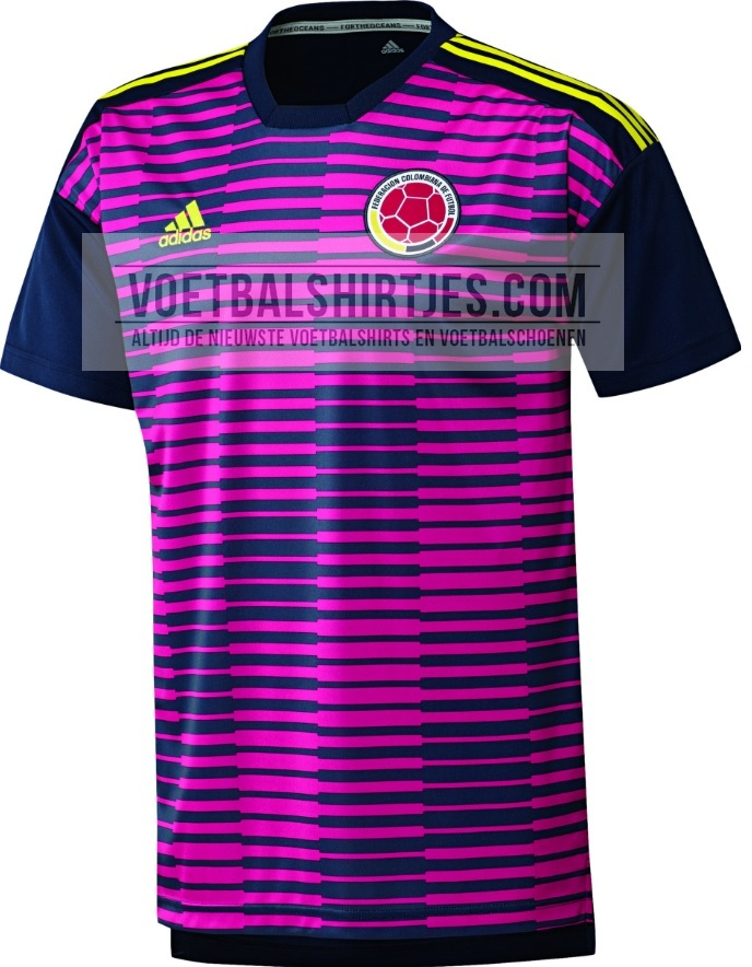 camiseta Colombia 2018 pre match