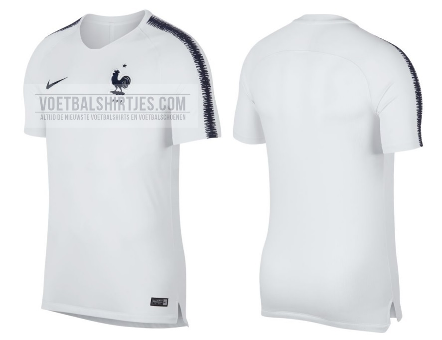 France 2018 training top