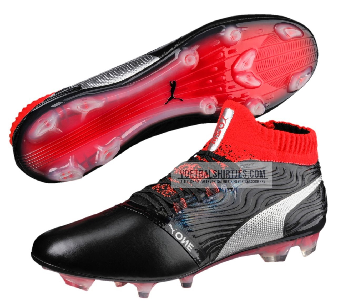 Puma One 18.1 black red blast