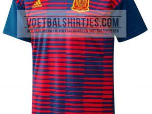 camiseta espana 2018 pre match
