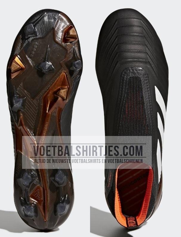 adidas predator 18+ black real coral