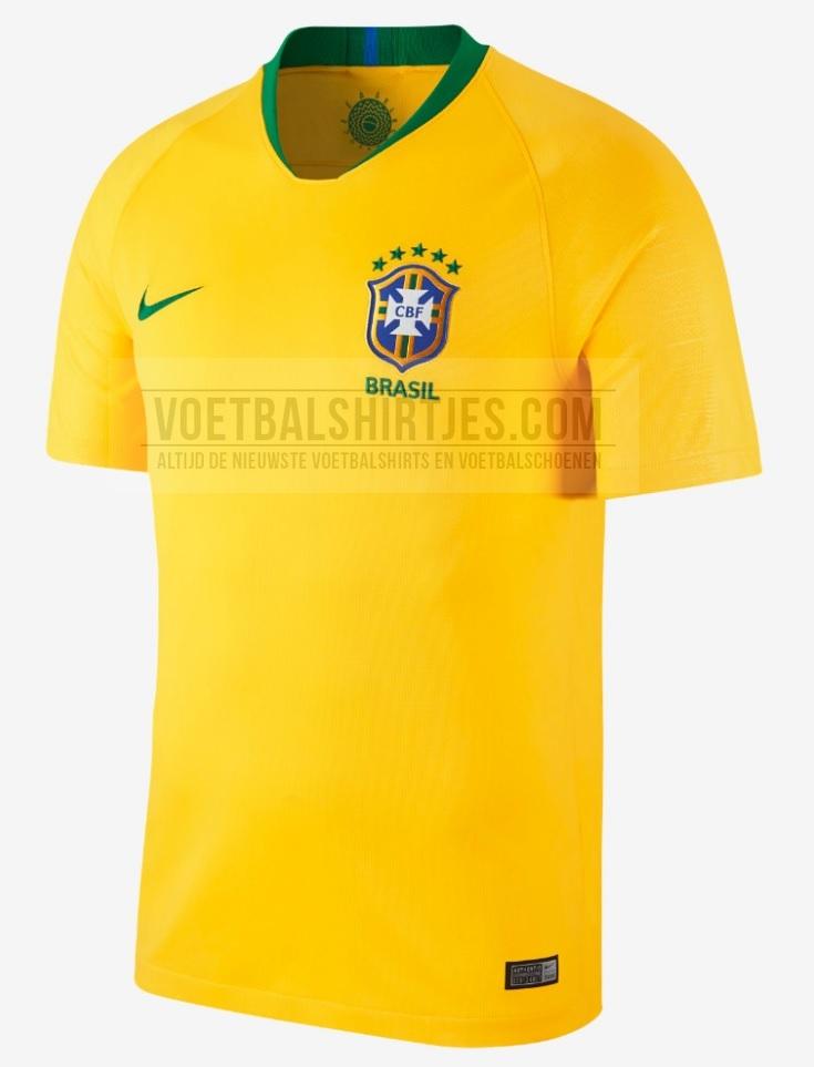 Brazilie thuisshirt 2018