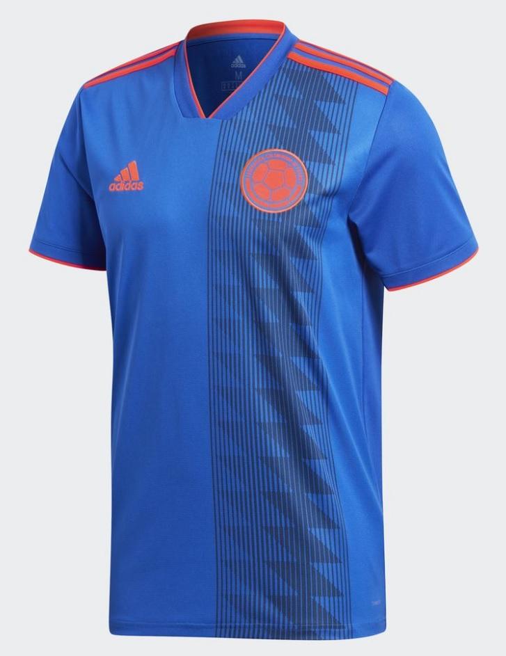 camiseta Colombia 2018 visitante